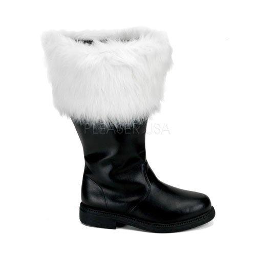 Wide Calf Santa Claus Boots Costume Accessory - Small ()