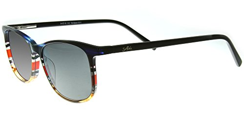 Aloha Eyewear Tek Spex 1011 Unisex RX-Able Reader Sunglasses with Progressive Polarized Lens (Blue / Red +1.50) by Aloha Eyewear