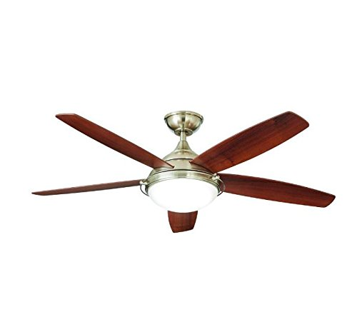Home Decorators Collection Gramercy 52 in. LED Brushed Nickel Ceiling Fan ()