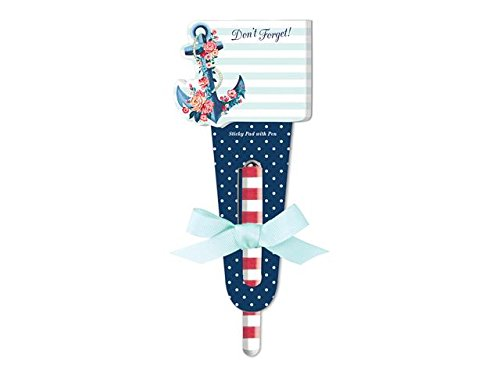 Lady Jayne Sticky Pad W/Pen Seaside Blooms Anchor