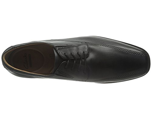 CLARKS Men's Tilden Walk, Black Leather, 15 D-Medium by CLARKS