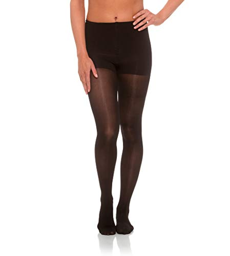 Jomi Compression Pantyhose Women Collection, 20-30mmHg Sheer Closed Toe 276 (Small, Black)