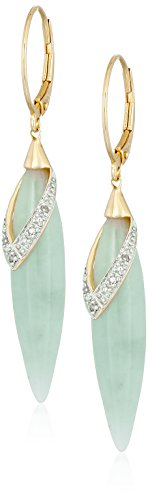 Yellow Sterling Silver Diamond Earrings