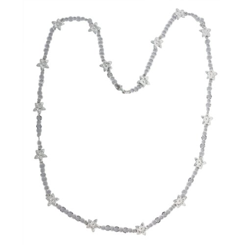 Sterling Silver Flower Link Necklace (36 (Sterling Silver Flower Link Necklace)