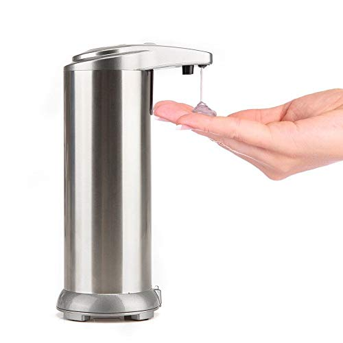 Automatic Soap Dispenser, SQ Touchless Stainless Steel Body and Waterproof Base Auto Soap Dispenser for Kitchen and Bathroom