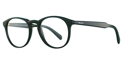 1ab1o1 Glasses - Prada PR19SV - 1AB1O1 Eyeglasses ACETATE MAN OPTICAL FRAME/BLACK 48mm