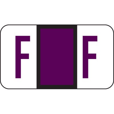 Alphabetical File Folder Labels- Letter F - Purple - POS 3300 3400 Compatible (Polylaminated - 225 Package)