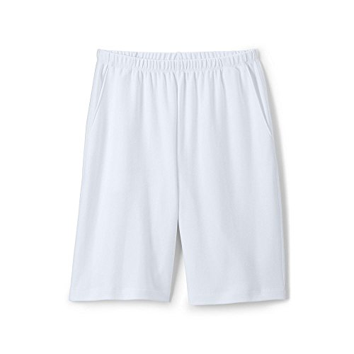 Lands' End Women's Tall Sport Knit Shorts, S, White ()