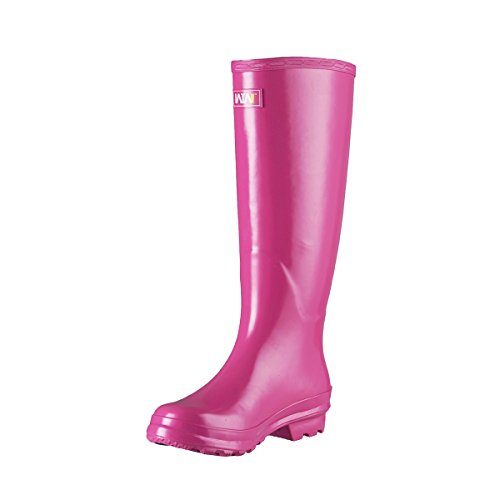 Rose Rubber Snow for Wellington Ladies Boots Women's Rainy Day Knee High and Rain WTW Winter q6F4pwg