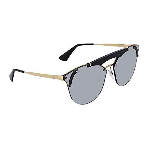 Prada Women's Ornate Aviator Sunglasses, Pale Gold Black/Grey, One Size (Glasses For Women Prada)