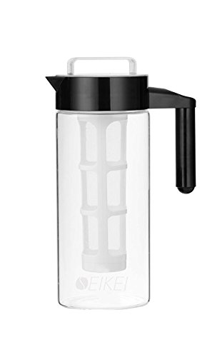 SEIKEI Original Cold Brew Coffee Maker for Iced Coffee, Tea, and Fruit Infused Water, Glass Pitcher with Coffee Filter and Extra Fruit Infuser Filters, 44 Ounce Capacity by Seikei Designs (Image #5)