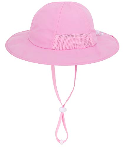 Simplicity Wide Brim Girls Sun Hats Packable Summer with uv Protection for Kids, Pink / 2-6 Years - http://coolthings.us