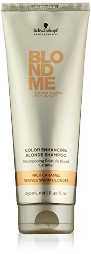 Schwarzkopf Professional Blondme, Color Enhancing Blonde Shampoo, Rich Caramel, 8.45 Ounce Tone Color Enhancing Shampoo