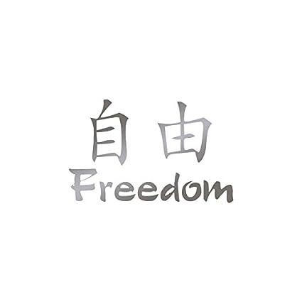 Amazon Chinese Symbols Freedom Vinyl Decal Sticker 6 X 375