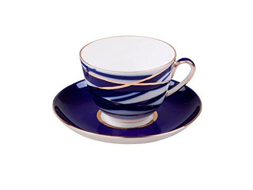 Lomonosov Porcelain Tea Set Cup and Saucer Spring Cocon 7.8 ounces/230 milliliters