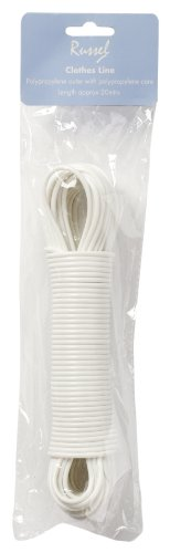 H & L Russel Solid Polypropylene Clothes Line, 20 m, White H & L Russel Ltd XL2000