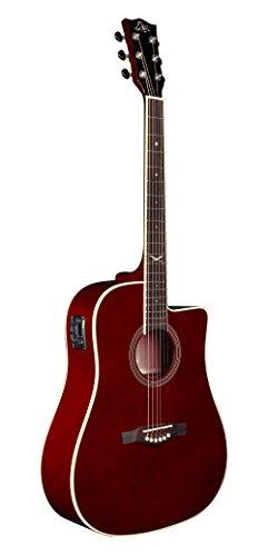Eko Guitars 06217122 NXT Series Dreadnought Cutaway Acoustic-Electric Guitar - Wine Red Wine Red Guitar