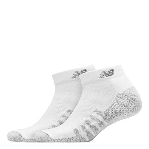 New Balance 2-Pack CoolMax Low Cut White LG (Men's Shoe 9-12.5, Women's Shoe 10-12)