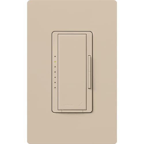 Lutron MRF2-6ND-120-TP, Single Pole 600 Watt Preset Incand Light Dimmer, Taupe by Lutron