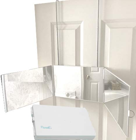 Floxsee Portable Adjustable Tri-Fold Mirror for Home or Travel ... (White) (Mirror Door Way The Over 3)