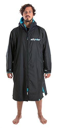 Dryrobe Advance Adult Changing Robe - Long Sleeve Change Poncho/Dry Robe Large Black/Blue