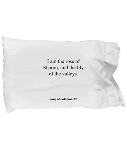 Song of Solomon 2 1 Pillow Case - Inspirational Bible Verse/Psalm Gift: