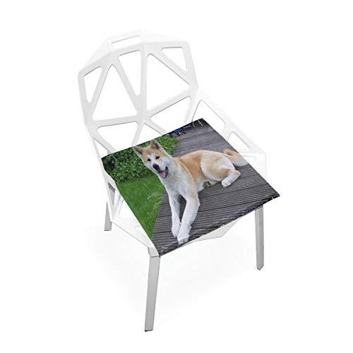 Pingshoes Seat Cushion Akita Dog Chair Cushion Offices Butt Chair Pads Square Wheelchairs Mat for Outdoors (Camo Chair Papasan)