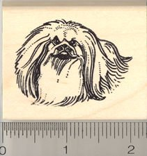 Pekingese Rubber Stamps - Wood Mounted