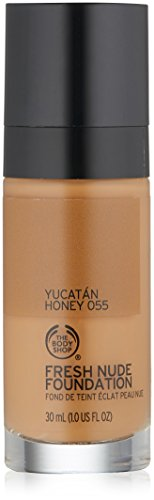 The Body Shop Fresh Nude Foundation, Shade 55 Yucatan Honey, 1 Fluid - Fresh Shades