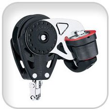 Harken 57mm 75mm Carbo Ratchamatic Blocks, 57mm carbo