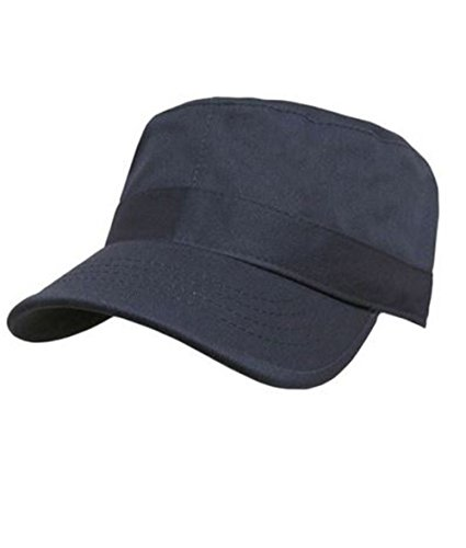 NYC Fashion Supplies Military Army Castro Hat Fatigue/GI Cadet Cap 10+ Solid/Camo Colors (Large/Extra Large, Dark Grey)