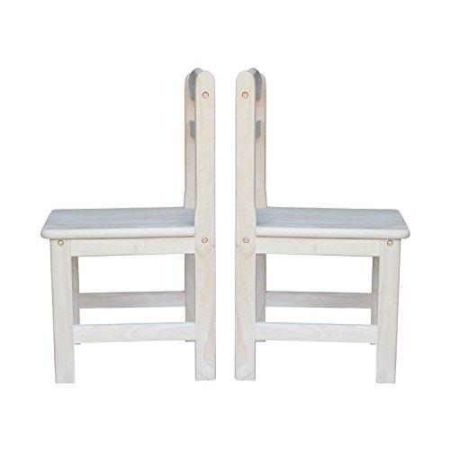 International Concepts Unfinished Juvenile Chair, Set of 2 by International Concepts (Image #5)