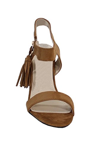By Shoes -Sandalia alta estilo gamo para Mujer Camel