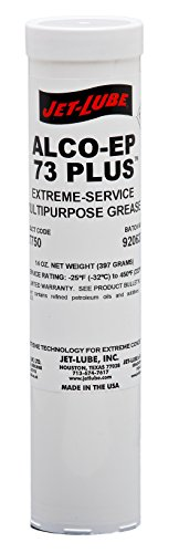 Jet-Lube 37750 Alco-EP-73 Plus Premium Grease, -25 to 450 degrees F, 2 NLGI Number, 14 oz Cartridge, Red by Jet-Lube