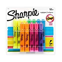 (Sharpie Accent Tank-Style Highlighters, Assorted Colors, Pack of 12)