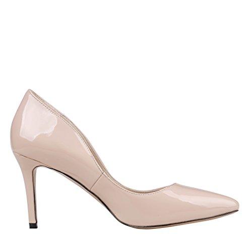 EKS - Zapatos de Tacón Mujer - Nackt-Lackleder