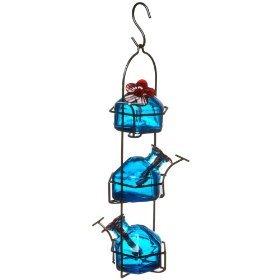 Lunchpail 3 Hummingbird Feeder Aqua -