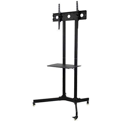 "NavePoint Flat Panel TV Cart Height Adjustable 30"" to 65"" Mobile Stand w/Wheels HDMI from NavePoint"