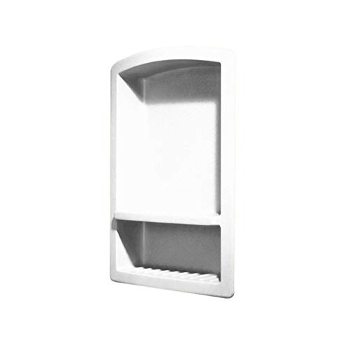 (Swanstone RS-2215 Solid Surface Single Shower Shelf, 4.3