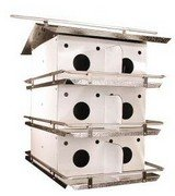 Birds Choice Original 3-Floor-12 Room Purple Martin House with Round Holes 12 Room Purple Martin House