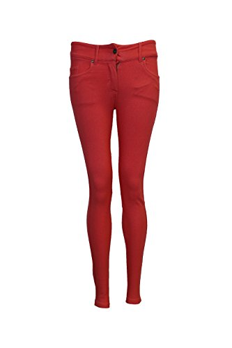 Leggings 54 Donna Da Forti Rosso Jeggings Skinny Jeans Taglie Colorati Donna Stretch NUOVO 36 74qBvv