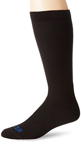 Bates Men's Thermal Uniform Mid Calf Socks, Black, Sock Size:10-13/Shoe Size: 6-12