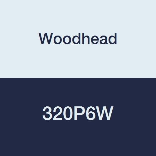 Woodhead 320P6W Watertite Pin and Sleeve Plug, 2 Pole/3 Wire, 250V, 20 Amp, Blue