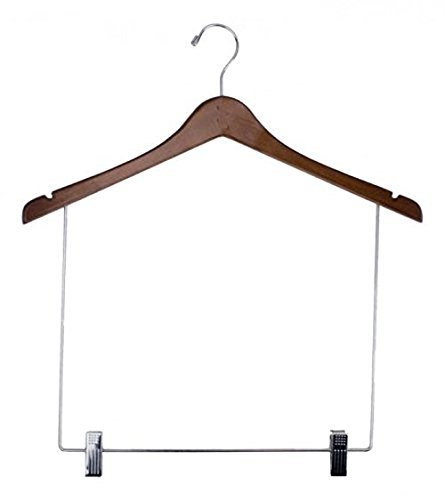 NAHANCO 100-17RC Wooden Display Hangers Concave 17 Walnut Finish (Pack of 12) [並行輸入品] B07Q2XB36V