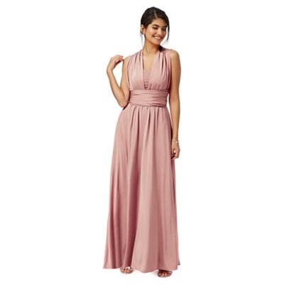 Debut Womens Pink Multiway Evening Dress 18