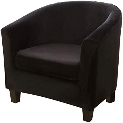 2 Piece Velvet Tub Chair Covers with Cushion...