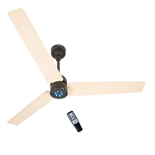 White Remote fan
