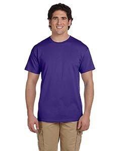 Fruit of the Loom 5 oz. 100% Heavy Cotton HD T-Shirt (3931) Deep Purple, 6XL
