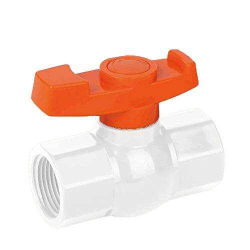 SHYOKO 3/4'' Valves, Inline PVC Ball Valve, Compact T-Handle Shut-Off Valves for Irrigation and Water Treatment, Female Thread x Female Thread
