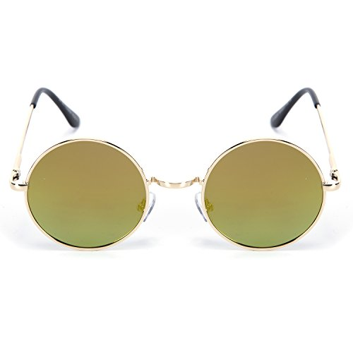 YJMILL 2018 New Women Polarized Sunglasses Riding Sports Round Retro 8024 (Orange, - Anteojos Oscuros